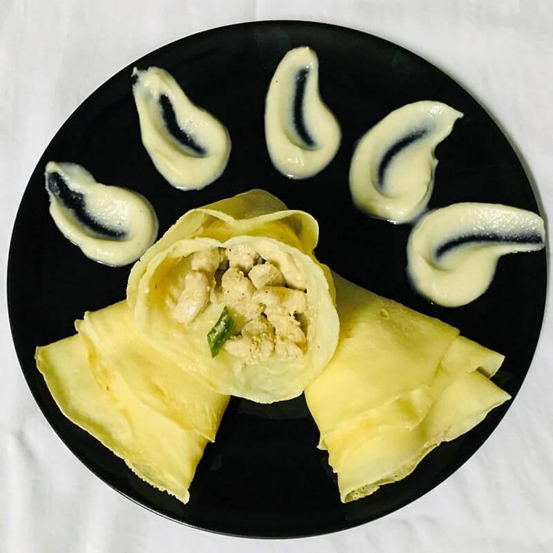 chickenkone-withcoliflower -sause চিকেনকোন-উইথকলিফ্লাওার-সস@chuijhal.com